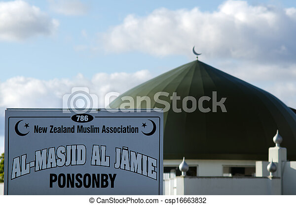 AUCKLAND, NZ - OCT 07:Al Masjid Al Jamie mosque in Ponsonby on Oct 07 2013. Muslim religion in NZ growing, It's estimated that there are approximately 17, 000 Muslims. - csp16663832