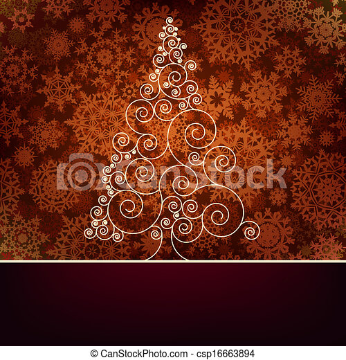 Retro christmas card Template. EPS 10 - csp16663894