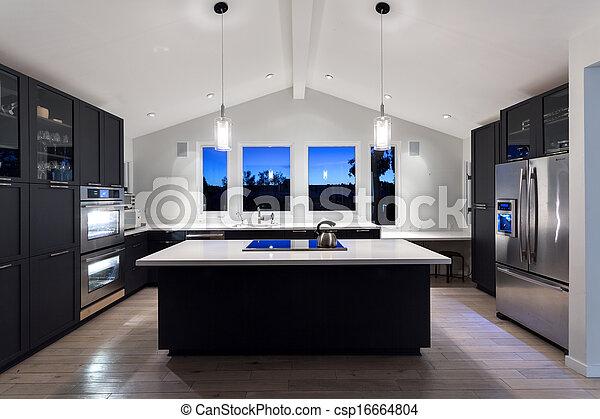 Küche modern luxus  Stock Fotografie von modern, house., luxus, kueche - Luxury ...