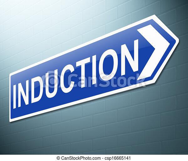 Zeichnung von Induktion, begriff - abbildung, Darstellen ...