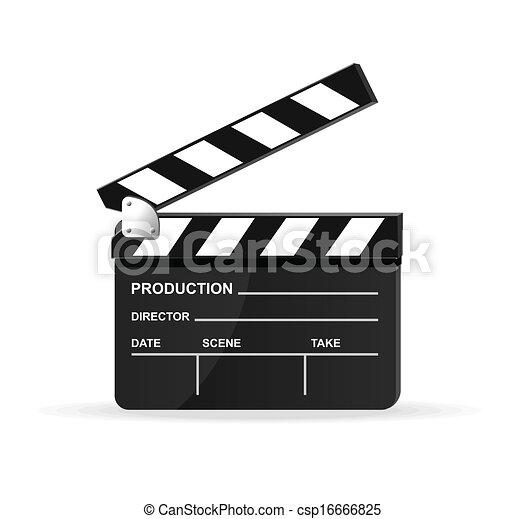 Vector movie clapper board - csp16666825