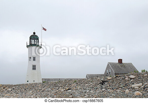 The historic Scituate Light was built in 1811 and is the 11th oldest lighthouse in the United States - csp16667605