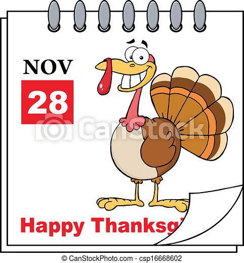Thanksgiving Holiday Calendar - csp16668602