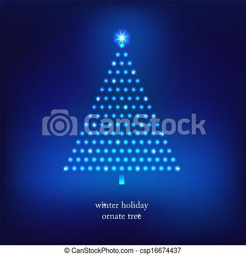 Winter holidays decoration tree. - csp16674437