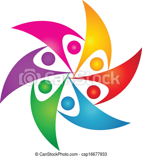 Vectors of Teamwork united people logo design csp16677933 - Search ...