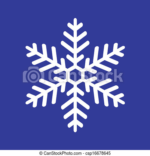 Vecteur eps de blanc flocon de neige sur a bleu fond vectorial csp16678645 - Dessin flocon de neige simple ...