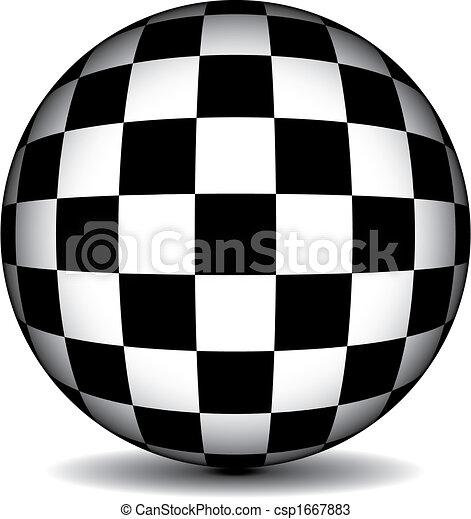 checkered sphere - csp1667883