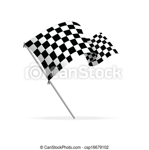 Vector Racing flag - csp16679102