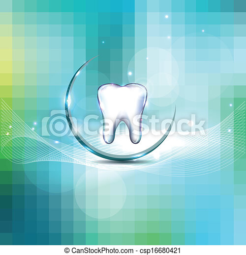 Beautiful dental design cover - csp16680421
