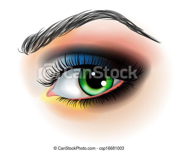 Eye make up vector illustration - csp16681003