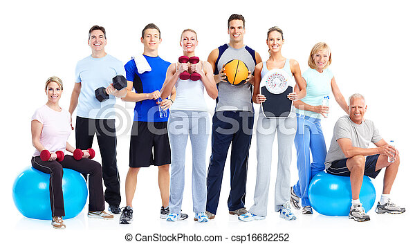 Group of fitness people. - csp16682252