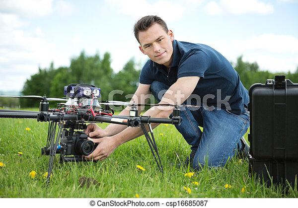 カメラ, 写真撮影, 無人機, 設定, エンジニア - csp16685087