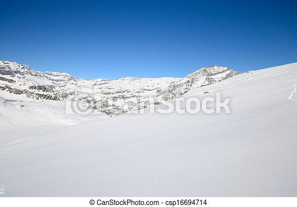 Quiet alpine scene in winter - csp16694714