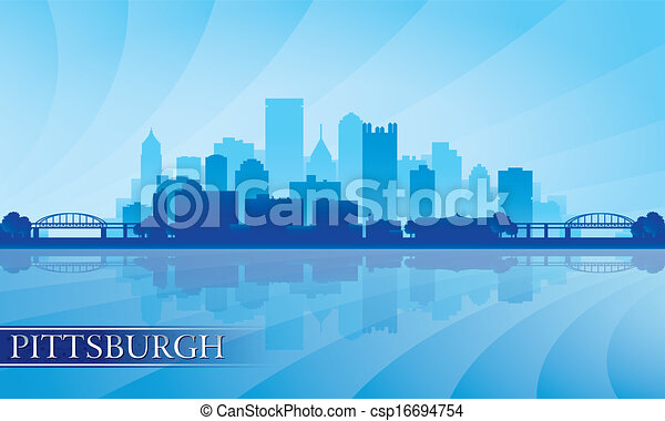 Pittsburgh Skyline Drawing Pittsburgh City Skyline