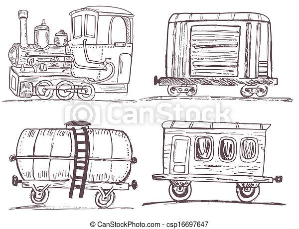Calefactor de caboose del ferrocarril de la vendimia
