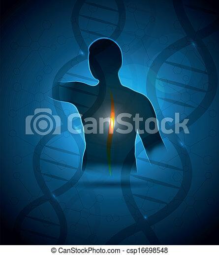 Human backache - csp16698548