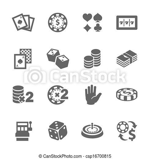 Gambling icons - csp16700815