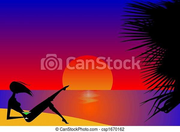 Tropical Sunset - csp1670162