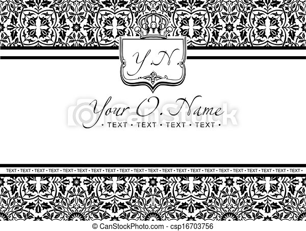 Vector Small Title Frame and Pattern - csp16703756