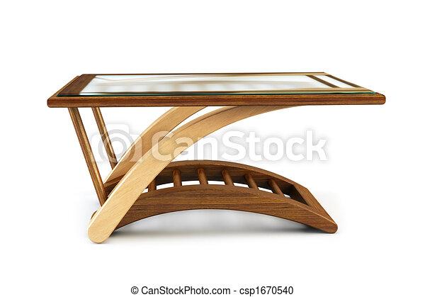 현대, 식사하는, 유리, 테이블, 3차원, 지방의 정제 csp1670540의 ...