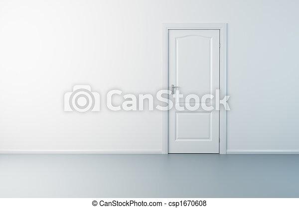 empty new room with door - csp1670608
