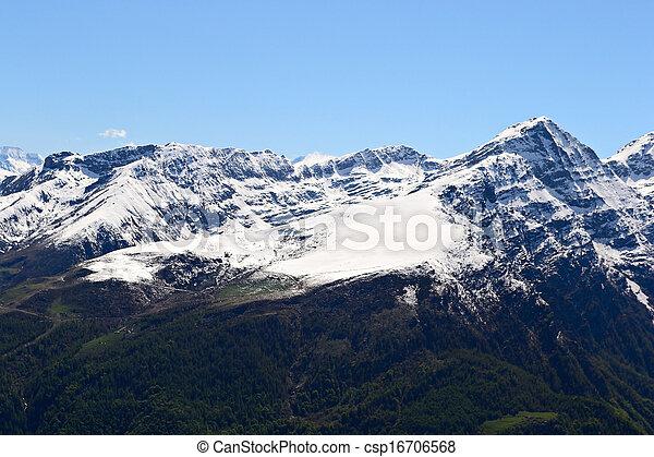 High mountain range in spring - csp16706568