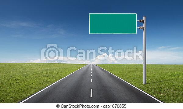 road sign - csp1670855
