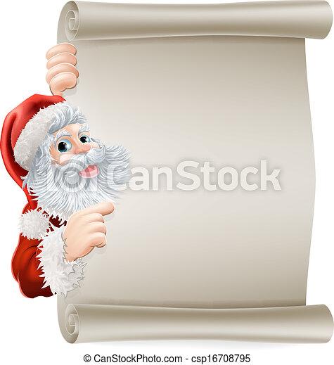 Santa Christmas Poster - csp16708795