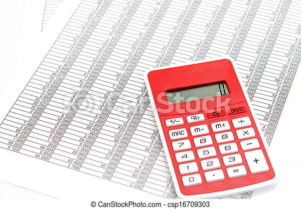 Calculator and Accounting documents - csp16709303