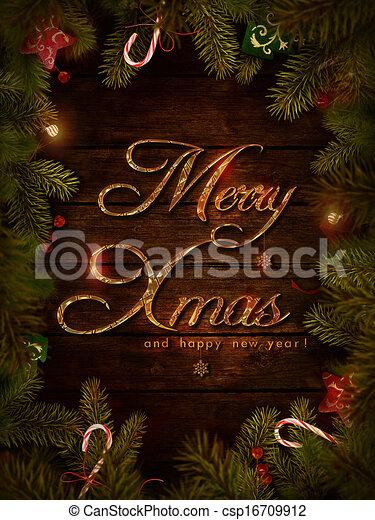Christmas design - Xmas wreath - csp16709912