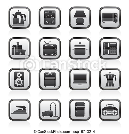 home equipment icons - csp16713214