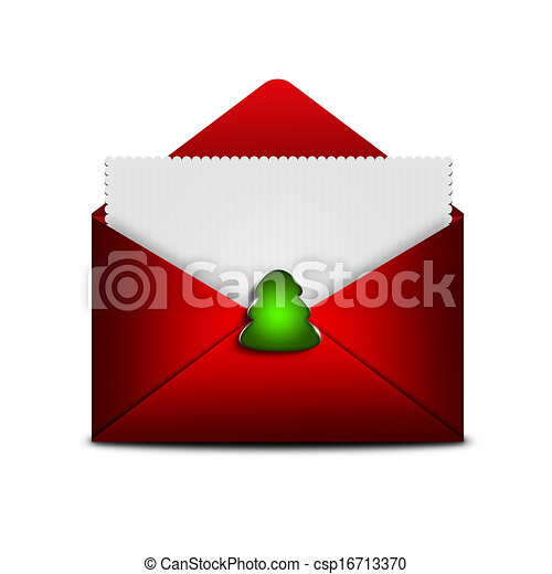 card in envelope with place for text over white background - csp16713370
