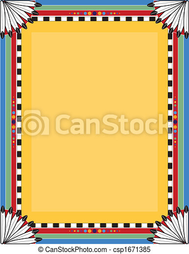 Similiar Native American Full Size Borders And Frames Keywords