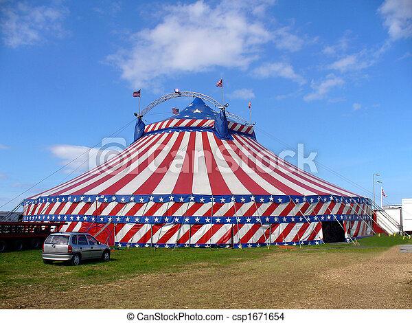American circus tent exterior - csp1671654