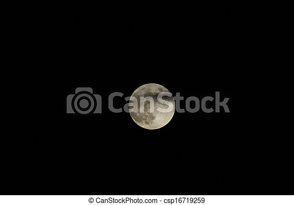 Full Moon Against a Black Sky