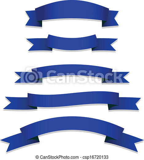 Blue Ribbons Flags - csp16720133