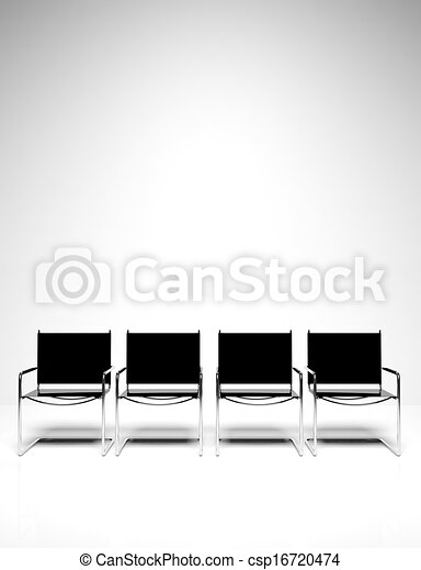 Row of office chairs - csp16720474