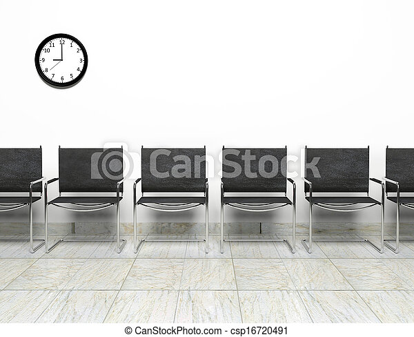 Row of chairs in waiting room - csp16720491