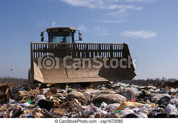 Landfill working truck - csp1672085