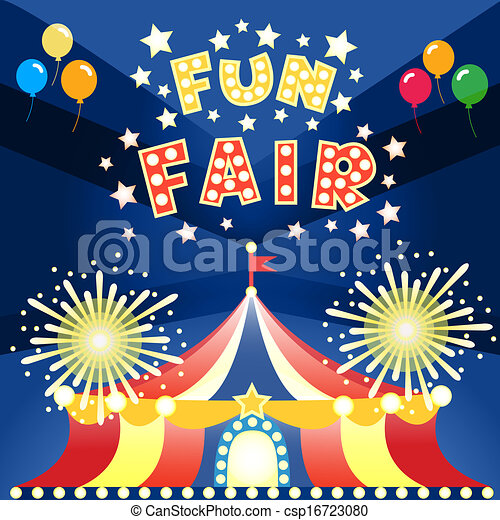 Fun Fair Drawing Vector Fun Fair Poster