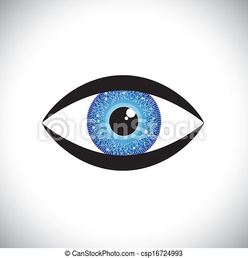 Eyes Blue Drawing Blue Color Human Eye Icon