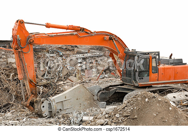 Orange digger - csp1672514