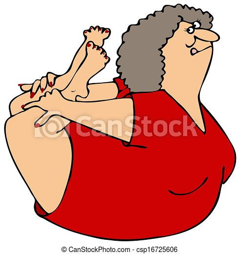 Woman rocking on her belly - csp16725606