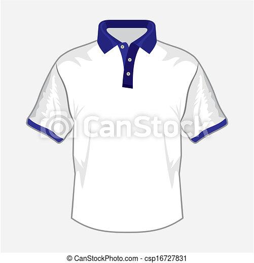 B, camisa, escuro, desenho,  pólo, branca - csp16727831