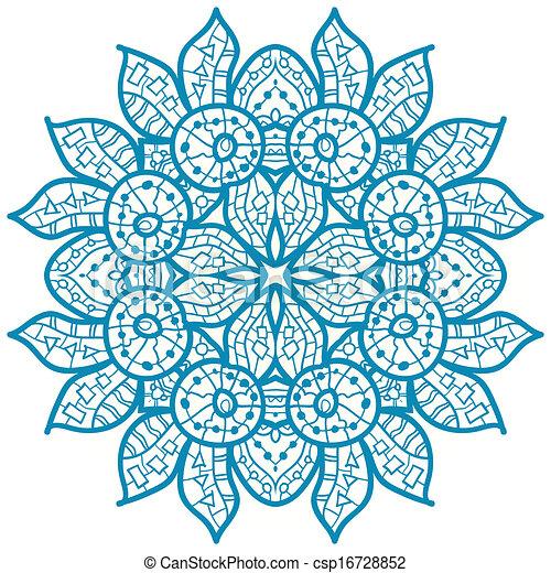 vecteur clipart de oriental mandala motif oriental bleu mandala motif csp16728852. Black Bedroom Furniture Sets. Home Design Ideas