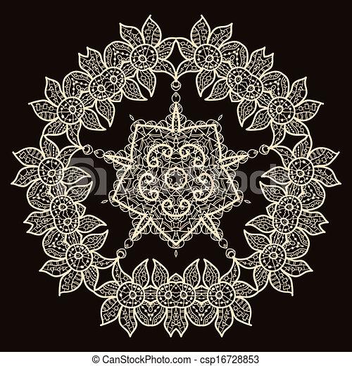 vecteur clipart de oriental mandala motif rond lase mod le sur les csp16728853. Black Bedroom Furniture Sets. Home Design Ideas