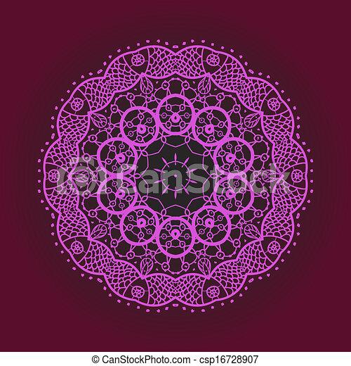 clipart vecteur de oriental mandala motif rond lase mod le sur les csp16728907. Black Bedroom Furniture Sets. Home Design Ideas