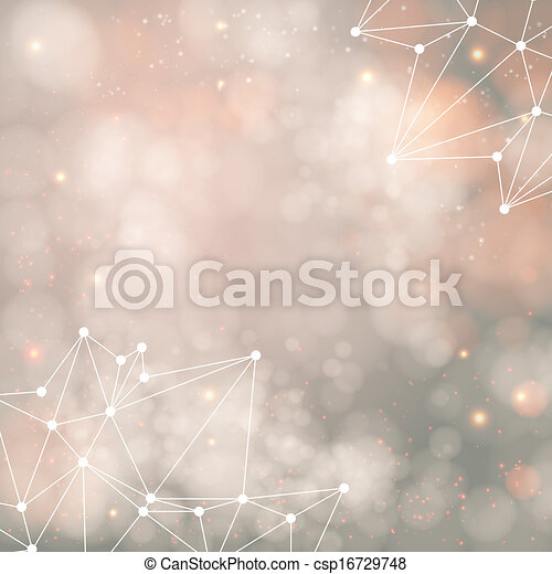 Geometric background with triangle elements and place for Your text. Vector illustration.  - csp16729748