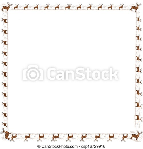 Clipart of Whitetail deer border - Whitetail buck as a border ...