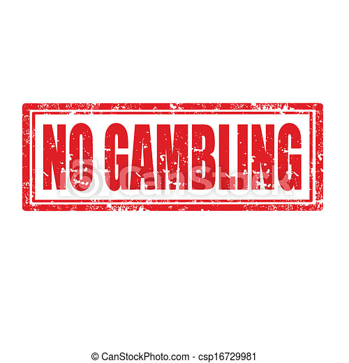 No Gambling-stamp - csp16729981